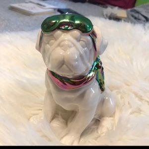 RARE Pug Dog Puppy Aviator Figurine